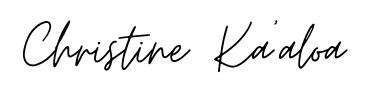 christine kaaloa logo